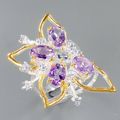 £7.08 • Buy Vintage Amethyst Ring Silver 925 Sterling  Size 7 /R156946