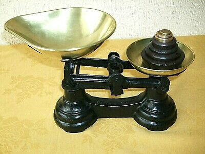 £25 • Buy Vintage Librasco Cast Iron Brass Pan Kitchen Scales With Weights
