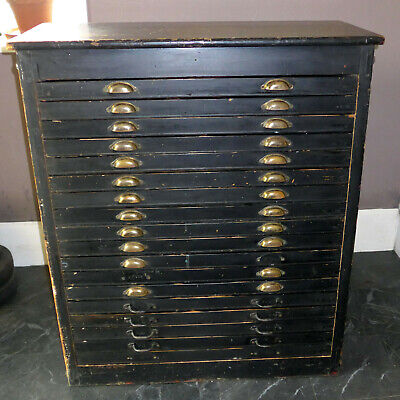£397 • Buy Letterpress All Wood Cabinet Printers Chest 18 Drawers For Wood Type Large Type