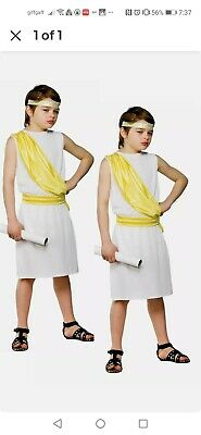 £7.50 • Buy Child Ancient Greek Boy Outfit Fancy Dress Costume Book Day Toga Kids Boys, Exce
