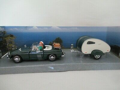 £3.50 • Buy SCHUCO JUNIOR LINE MGB WITH CAMPING TRAILER - GREEN SCALE 1:43 Art. No. 331 5075