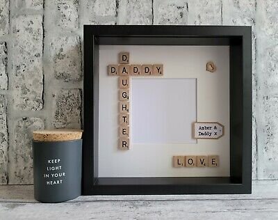 £24 • Buy Scrabble Picture Photo Frame Daddy & Daughter Best Dad Father First Fathers Day