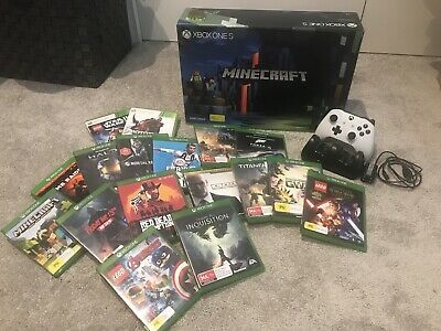 AU525 • Buy Xbox One S Limited Edition Minecraft Console With 15 Games