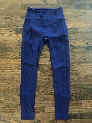 $ CDN67.95 • Buy Lululemon All The Right Places Compression Legging Pants Womens Size 6 Blue EUC