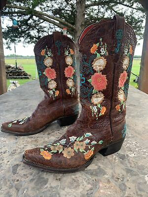 $149.99 • Buy Womens Macie Bean Rose Garden Cowgirl Boots Snip Toe M8031 Size 9 🔥 🔥 🔥