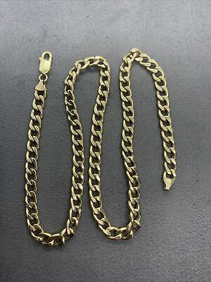 """£265 • Buy 9ct Gold Curb Chain 18.5"""" 11.4g"""