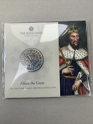 £17.49 • Buy 2021 Alfred The Great UK £5 Five Pound Coin In Royal Mint Sealed Pack .