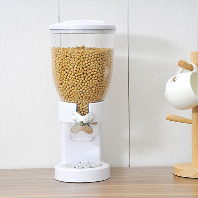 £0.99 • Buy Single Cereal Dispenser Storage Container Oatmeal Nuts Candy Pet Food White 3.5L