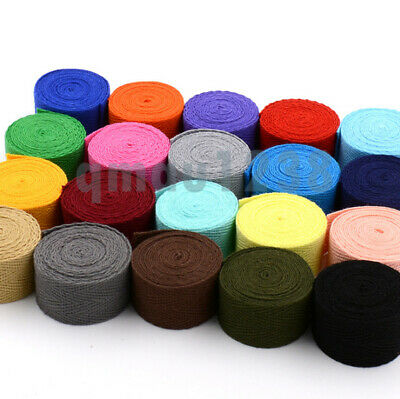 £2.55 • Buy 20mm Cotton Blended Twill Tape Webbing Fabric Strap For Trimming/Edging/Craft