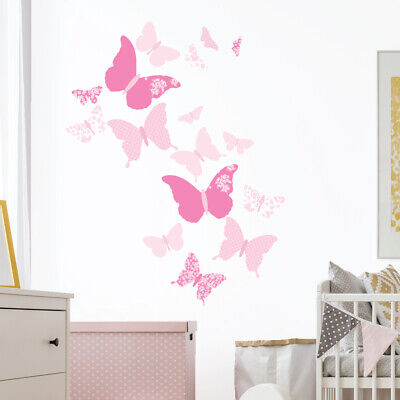 £14.95 • Buy Butterfly Wall Stickers, Wall Decals Collection, Pink Moon Butterfly Bfly.3