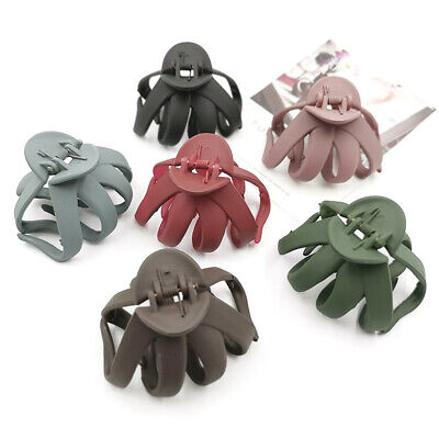 $ CDN2.39 • Buy Geometric Frosted Hair Claws Crab Plastic Clip Barrettes Trendy  Accessories