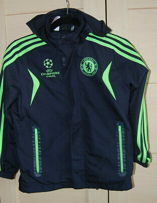 £7 • Buy Chelsea FC Adidas Climproof Jacket Age 9 - 10 Years - Hooded