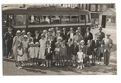 £10.50 • Buy Rp Portsmouth Harbour Ww2 Evacuees Bus / Coach  Hampshire Real Photo 1939