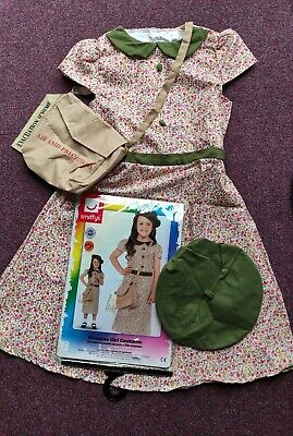 £12.49 • Buy Smiffys Girls WW2 Refugee Evacuee Costume Outfit Size L 10 - 12