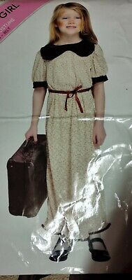 £11.99 • Buy Girls WW2 Refugee Evacuee Costume Outfit Size L 10 - 12