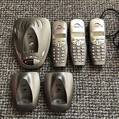 £9.99 • Buy *UNTESTED* BT Synergy 3505 Three Handsets *For Parts* Cordless Phone Home Office