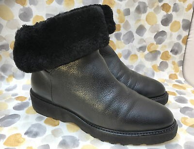 £66.50 • Buy Russell Bromley Aquatalia Black Fur Ankle Boots Size 5 Uk 38 Eur