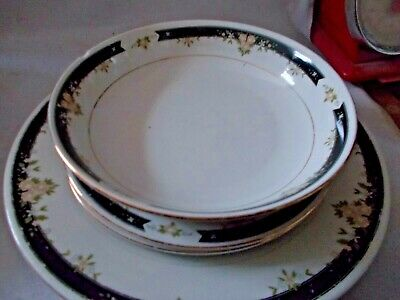 £2.99 • Buy 5 Pieces Of Crown Dynasty China: 2 Large Plates, 2 Small Plates , 1 Bowl