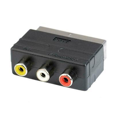 £2.30 • Buy FCLUO RGB Scart To 3 RCA S-Video Adapter Composite TV AV Audio T5C2 RCA D4O7