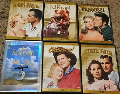 £12 • Buy The Rodgers And Hammerstein Collection 6 DVD Movies Box Set Sound Of Music +more