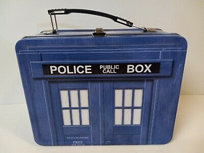£9.28 • Buy Doctor Who~ Police Box Tardis Tin Tote Lunch Box 1996 Ltd Edition Collectible