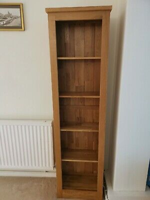 £19.99 • Buy Tall Slim Pine Book Case - Excellent Condition