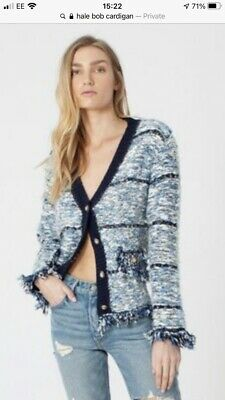 £65 • Buy BNWT. Hale Bob (Chanel Style) Boucle Cardigan. Navy With Lurex. Size S (10/12)