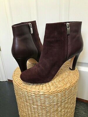 £12.50 • Buy Next Suede/Leather Burgundy Ankle Boots Size 5 - Beautiful Condition