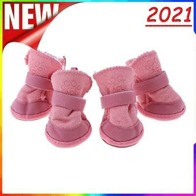 £3.67 • Buy Pet Puppy Thick Snow Boots Dog Plush Warm Shoes Dog Accessories(Pink)(XS)