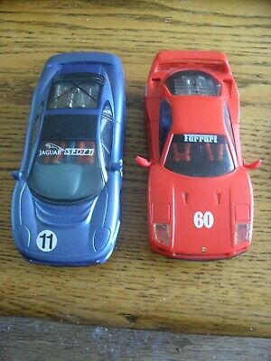 £14.99 • Buy 2 X Hornby Hobbies Scalextric  Cars Jaguar And Ferrari Good Condition