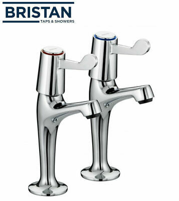 £16.95 • Buy Bristan Value Lever High Neck Pillar Kitchen Taps Chrome Plated VAL HNK C CD