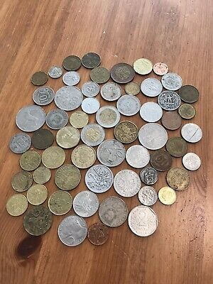 £0.99 • Buy Bundle Of Old Foreign Coins (mixed Countries) - Approx 60
