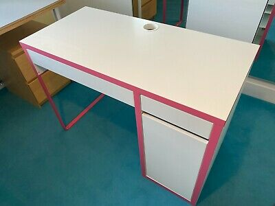 £8.20 • Buy Ikea Desk, White / Pink Excellent Condition