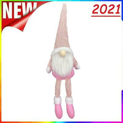 £4.21 • Buy Nordic Style Christmas Faceless Doll Ornament Home Desk Decorations (Pink)