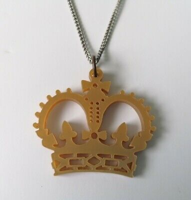 £5.60 • Buy Tatty Devine Gold Crown Necklace In Laser Cut Acrylic
