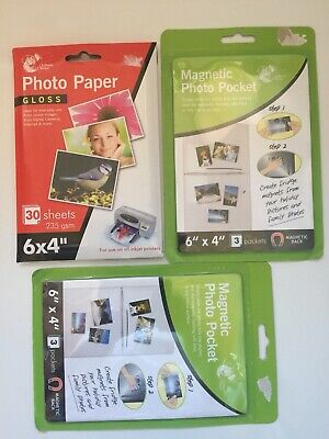 £1.50 • Buy Photo Paper & Magnetic Photo Pockets X 2 Packs