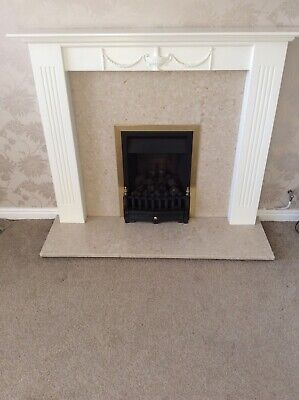 £98 • Buy 'Wonderfire Sonnet'Marble Fireplace With Surround. Gas Fire With Coal Effect