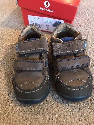 £6.50 • Buy Garvalin Boys Brown Leather Shoes First Shoes Size 6 Eur 23