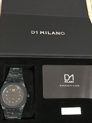 £45 • Buy D1 Milano Camo Green Polycarbonate 40.5mm Watch Wit Link Remover