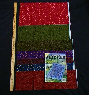 £4.92 • Buy GREAT LOT - FABRIC Bolt End Pieces - QUILT MAGAZINE PATTERNS Of Blocks & Tops 00