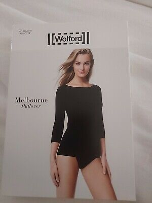 £18 • Buy Wolford  Melbourne Pullover, Black Small