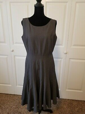 AU20.04 • Buy Calvin Klein Dress Size 8 Fit And Flare Gray Sleeveless