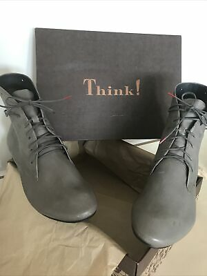 £59.99 • Buy Think! Guad Size 6.5 (39.5) Leather Lace Up Ankle Boots BNWT Taupe Mocha Grey