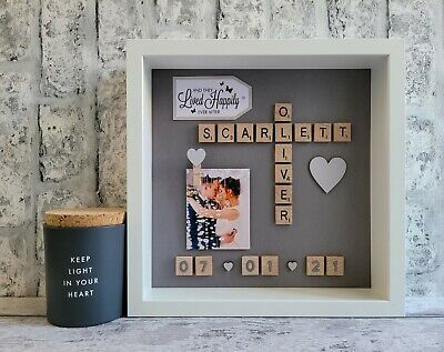 £25 • Buy (c) Scrabble Picture Photo Frame Love Couples Engagement Wedding Day Anniversary