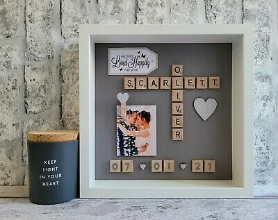 £26 • Buy (c) Scrabble Picture Photo Frame Love Engagement Wedding Anniversary Friends