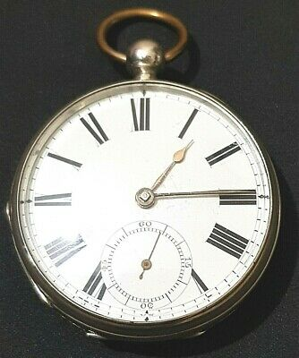£238 • Buy Beautiful Antique Solid Silver Cased Broadway Waltham Pocket Watch C1879