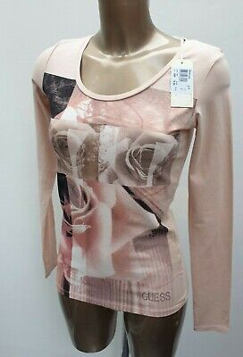 £0.99 • Buy NEW Women's GUESS Pink Rose Print Fitted Tee Stretchy Tee Top T-Shirt S UK 6/8