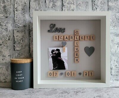 £26 • Buy (f) Scrabble Picture Photo Frame Engagement Wedding Anniversary Family Friends