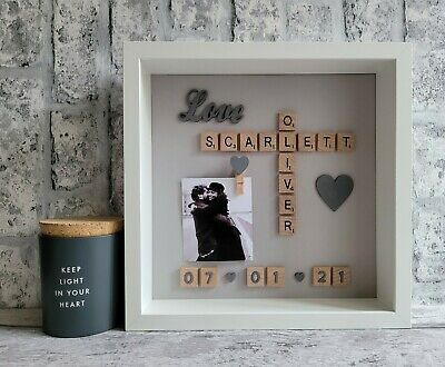 £26 • Buy (f) Scrabble Picture Photo Frame Love Engagement Wedding Anniversary Friends