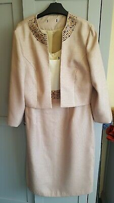 £9.99 • Buy Dress And Jacket Size 14 Wedding Or Occasion